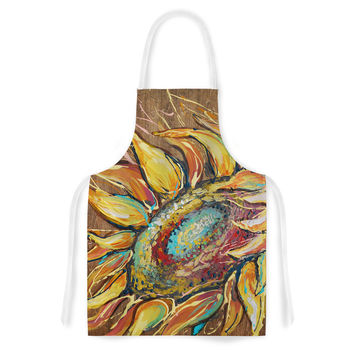 "Brienne Jepkema ""Sunflower"" Yellow Flower Artistic Apron"