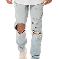 Elwood Men's Destructed Ripped Denim Slim Pant