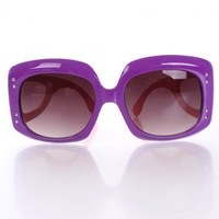 Purple Coral Large Frame Sunglasses