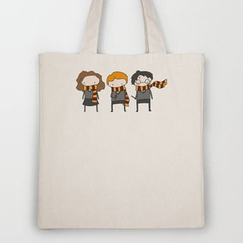 Harry, Ron & Hermione - Harry Potter Tote Bag by Justin Temporal