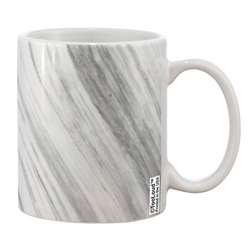 White Marble Pattern Printed 11oz Coffee Mug All Over Print by TooLoud