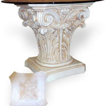 Corinthian with Swag Dining Table Base 29.5H
