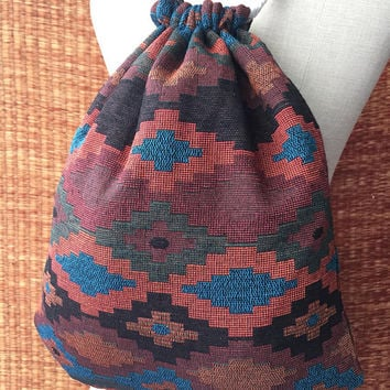 Tribal Backpack Boho Ethnic Aztec Festival bag fashion Rucksack Folk Woven Hippie Styles Gypsy Nepali fabric Tote Bohemian gift men women