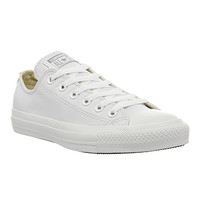 Converse All Star Low Leather White Mono Leather - Unisex Sports