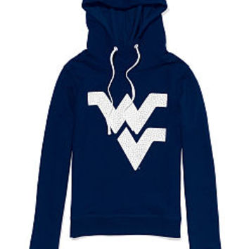 West Virginia University Bling Funnel-neck Hoodie - PINK - Victoria's Secret