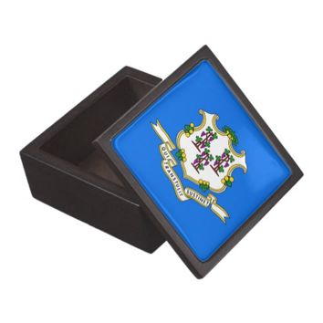 Connecticut State Flag Premium Gift Box