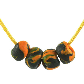 Handmade Marbled Polymer Clay Beads - Organic Focal Beads - Beading Supply - Dread Beads - 15mm - Jewellery and Craft Supplies - Set of 4
