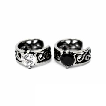 Stylish Jewelry Gift Shiny Cool Vintage White Gold Earring [11618157972]
