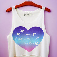 Creamy Galaxy If You're A Bird I'm A Bird Tank Top