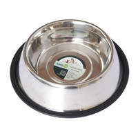 Iconic Pet - Stainless Steel Non-Skid Pet Bowl for Dog or Cat - 24 oz - 3 cup