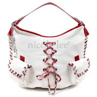 IKU FLORAL LACING HOBO - NICOLE LEE