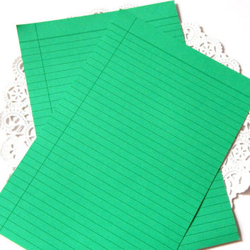 Vintage Green Hallmark Stationery. Paper Ephemera. Lined Writing Paper. Letter Writing Paper. Christmas Stationery. Junk Journal Paper.