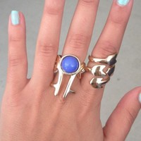 SABO SKIRT  Royal Blue Stone Ring - $8.00