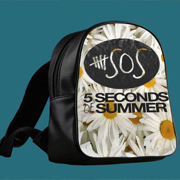 5SOS Sun Flowers for Backpack / Custom Bag / School Bag / Children Bag / Custom School Bag *