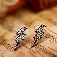 SWEET Unique Bolt Lightning Stud Earrings Fashion Lovely Cute Jewelry Earring