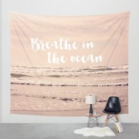 breathe in the ocean Wall Tapestry by Sylvia Cook Photography   Society6
