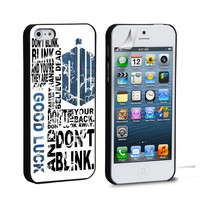 Police Box Tardis Doctor Who Don't Blink iPhone 4 5 6 Samsung Galaxy S3 4 5 iPod Touch 4 5 HTC One M7 8 Case