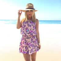 Monarch Floral Romper