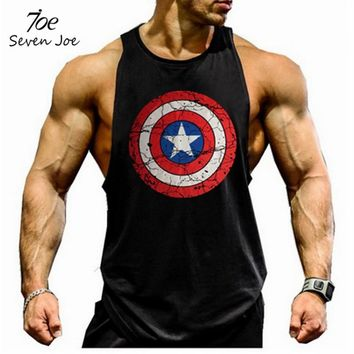 Seven Joe. musculation vest bodybuilding clothing and fitness men undershirt solid tank tops  blank golds men undershirt