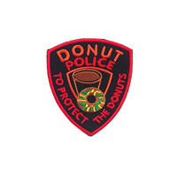 Donut Police Iron on Patch