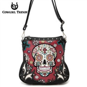 Sugar Skull Crossbody Concealed Carry Purse