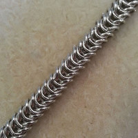 Mens Box Chain Chainmaille Bracelet, Chainmaille Bracelet, Mens Jewelry, Mens Chainmaille, Chainmaille Jewelry