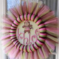 It's A Girl  - Jungle Jill Wreath - Baby Girl Nursery Decor - Girl Decor - Nursery Decor