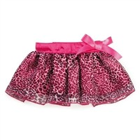 Leopard Ribbon Dog Skirt in Pink