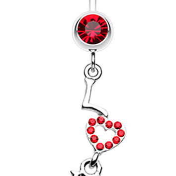 Dazzling Love Belly Button Ring