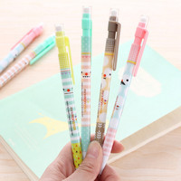 0.5mm Cute Kawaii Plastic Mechanical pencil Lovely Moustache Automatic Pen for Kids Writing Drawing School Free shipping 572