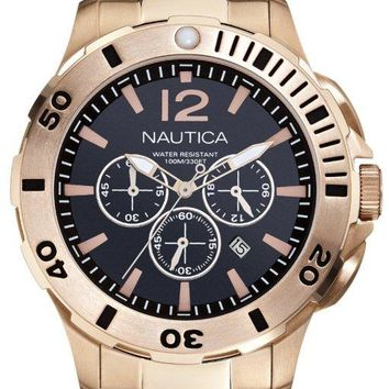 Nautica BFD 101 Gold-Tone Chronograph Watch N27524G