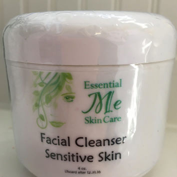 Organic,Ultra Creamy, Unscented Facial Cleanser for Sensitive Skin with Clary Sage, Lemon Essential Oil and Lavender Essential Oil