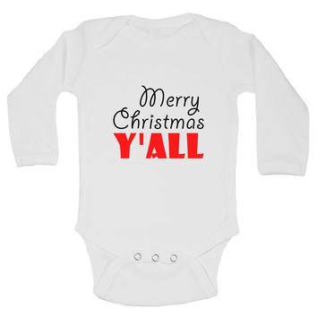 Christmas Onesuits -Merry Christmas Y'ALL FUNNY KIDS Onesuit