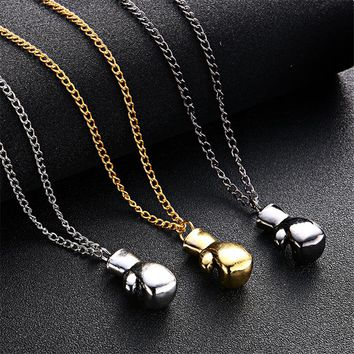LNRRABC 2018 New Fashion Men Boys Mini Boxing Glove Necklace Fitness Boxing Jewelry Unisex Cool Pendant free shipping