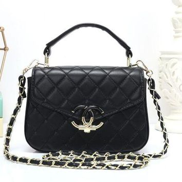 VLXZGW7 Chanel' Women Simple Fashion All-match Quilted Metal Chain Single Shoulder Messenger Bag Handbag