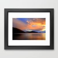 Sunset Framed Art Print by Haroulita | Society6