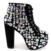 Jeffrey Campbell Lita Royal Platform Boot in Black