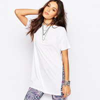 Short Sleeve Long T-shirt with Side Slit