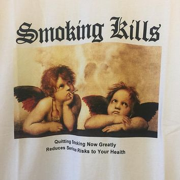 """Smoking Angels"" Tee"