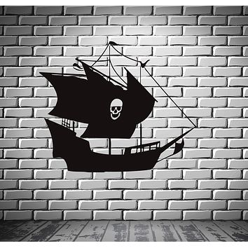 Ship Yacht Boat Pirate See Ocean Marine Mural  Wall Art Decor Vinyl Sticker Unique Gift z555