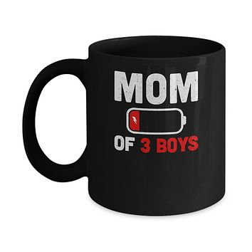 Funny Mom Of 3 Boys Mothers Day Gifts Mug