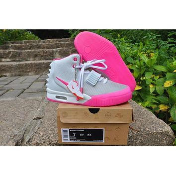 Nike Air Yeezy 2 Nrg Gray/pink Sneaker Size Us5.5 8   Best Deal Online