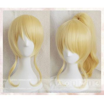 LoveLive! Love Live Cosplay Wig Eli Ayase Costume Play Adult Wigs Halloween Anime Hair +wig cap