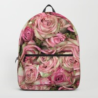 Your Pink Roses Backpack by deluxephotos