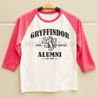 S M L - Gryffindor TShirt Text TShirt Harry Potter TShirt Men Shirt Women Shirt Long Sleeve Baseball TShirt Raglan Baseball Shirt