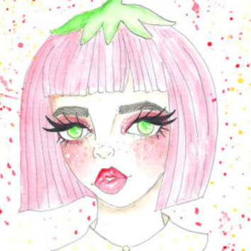 Strawberry Baby Art Print