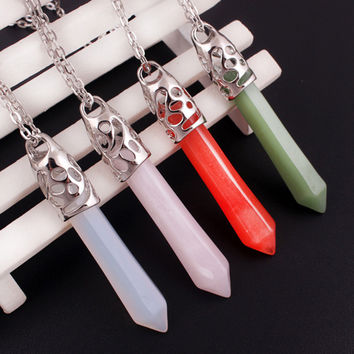 Gift Jewelry New Arrival Shiny Stylish Glass Crystal Pendant Necklace [6033934977]