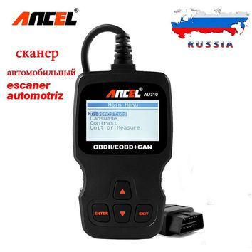 ANCEL AD310 OBD2 OBD Automotive Scanner Diagnostic Tool Fault Code Reader Analyzer for Car diagnostics in Russian Better ELM327