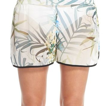 Women's Ted Baker London 'Twilight Floral' Print Cover-Up Shorts,