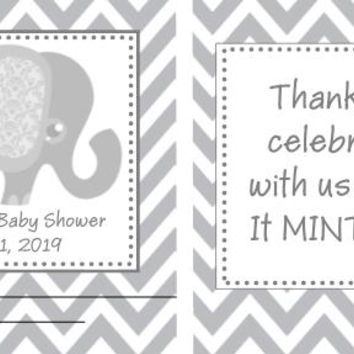 20 Elephant Baby Shower Mint Favors